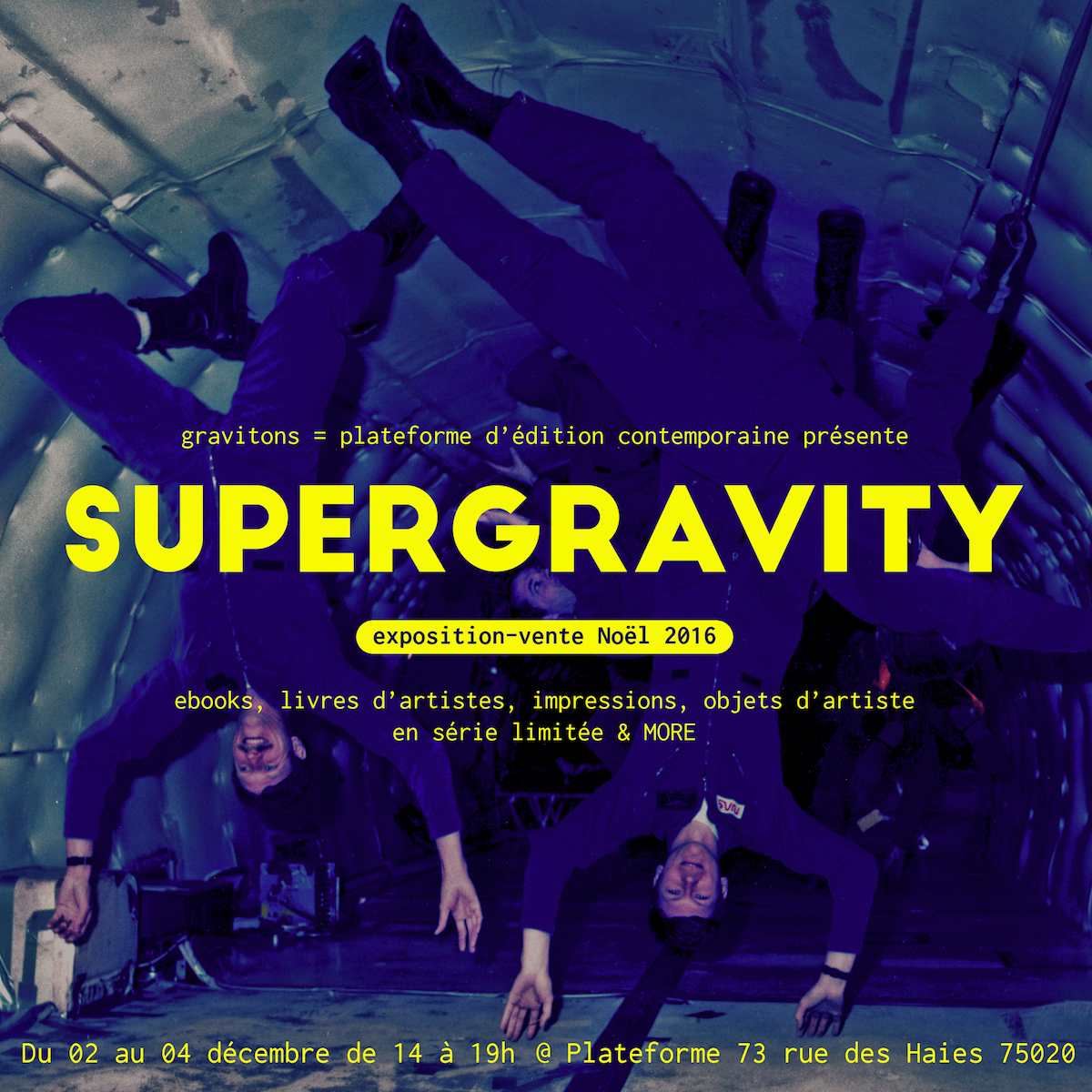 SUPERGRAVITY – exposition-vente Noël 2016